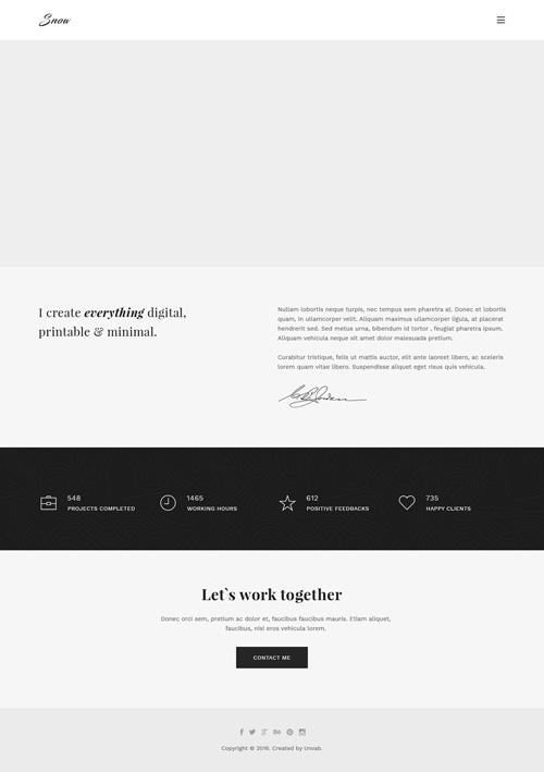 Легкий макет главной страницы сайта