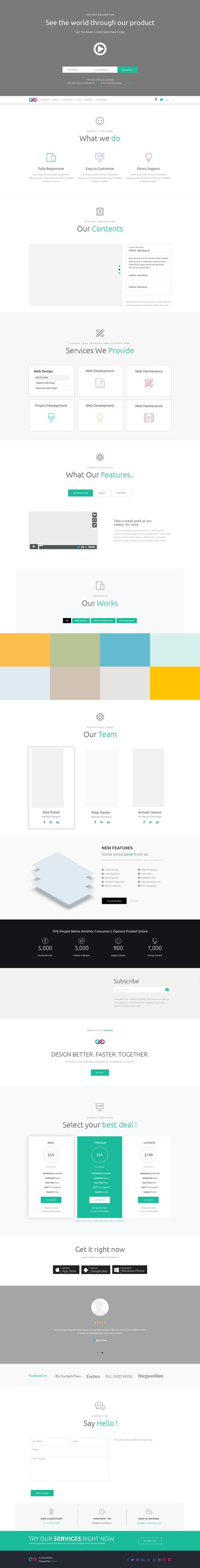 Большой макет сайта-визитки компании