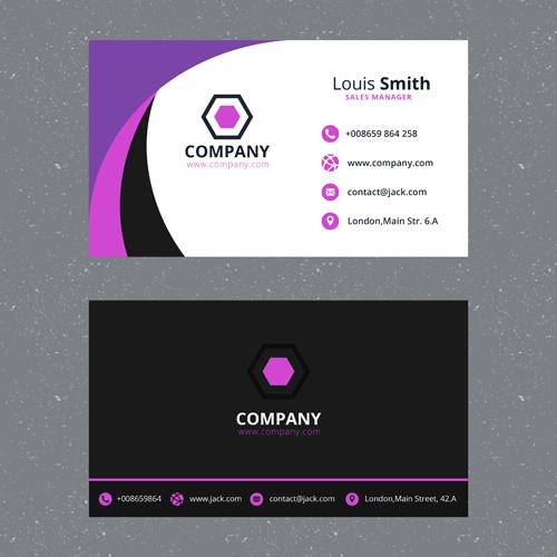Макет визитки темного цвета