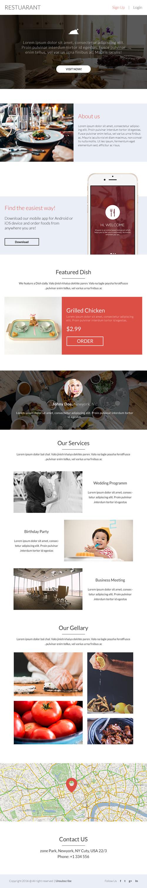 Шаблон сайта ресторана