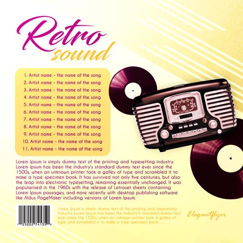 Обложка для диска в стиле ретро