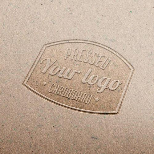 Mockup логотипа на бумаге