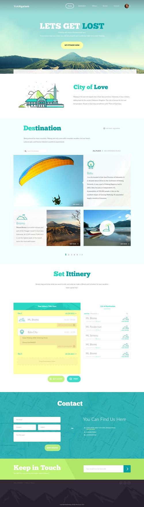 Отличный современный макет сайта