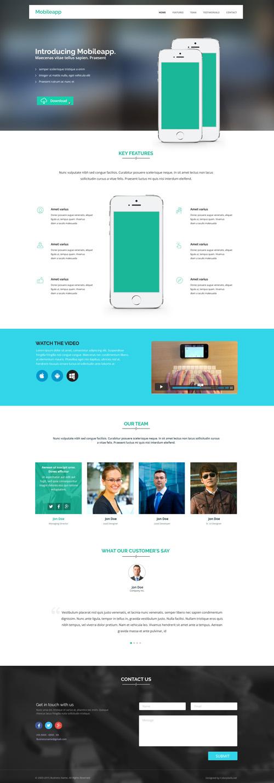 Сайт мобильного приложения