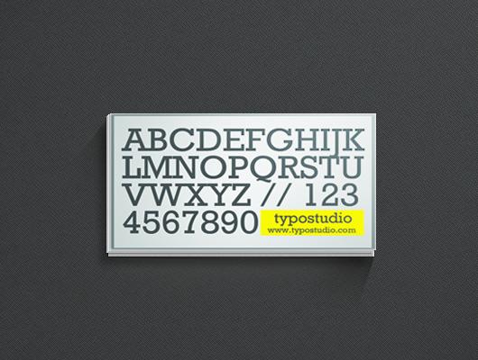 Шаблон визитки с алфавитом