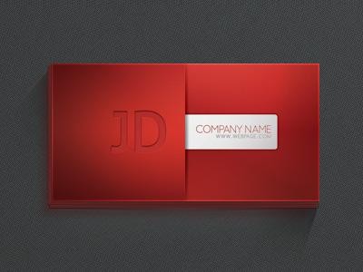 Насыщенно красная визитка