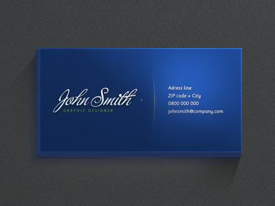 Красивая синяя визитка
