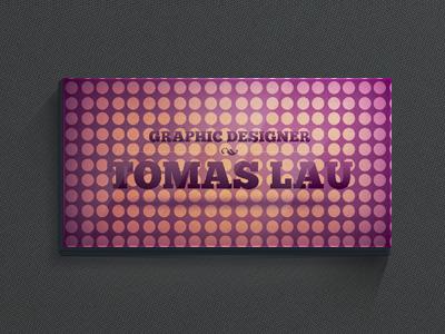Фиолетовая визитка в кружочек