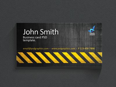 Шаблон индустриальной визитки
