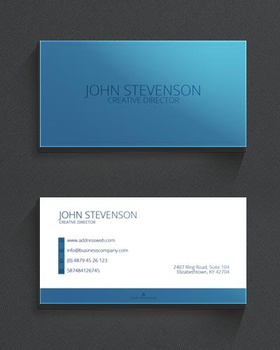 Аккуратная голубая визитка