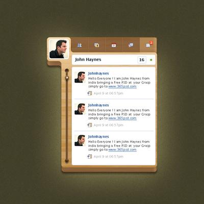 Блок для твиттера в стиле дерева