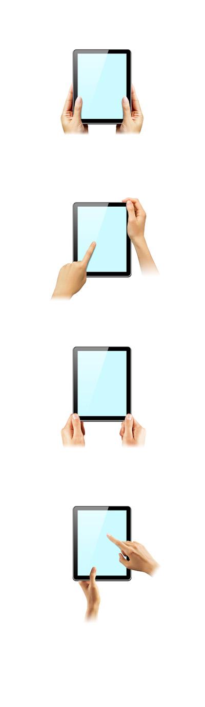 Руки с планшетом