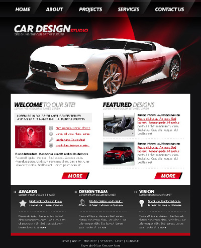 Шаблон сайта автомобильной тематики